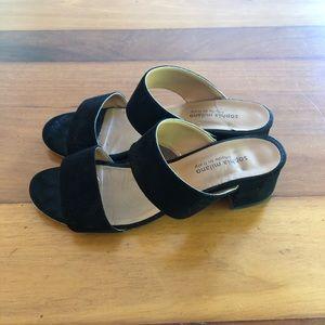 Sophia Milano Black Black Suede Slides (size 8)